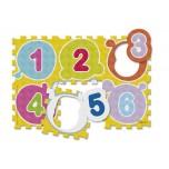 CHICCO Mīkstā puzzle cipari 6gb