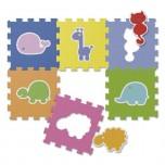 CHICCO Mīkstā puzzle dzīvnieki 6gb