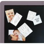Baby Art Magnet Keepsake komplekts ar magnētu mazuļa pēdiņu/rociņu nospieduma izveidošana, 2gab