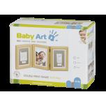 Baby Art Double Print Frame komplekts mazuļa pēdiņu/rociņu nospieduma izveidošanai, natural