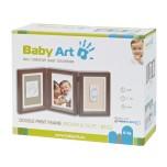Baby Art Double Print Frame komplekts mazuļa pēdiņu/rociņu nospieduma izveidošanai, taupe/beige