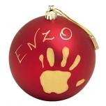 Baby Art Christmas Ball komplekts mazuļa pēdiņu/rociņu nospieduma izveidošanai, red