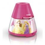 "Philips Disney ""Princess"" LED projektors un nakts gaismiņa, rozā"