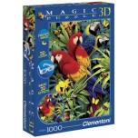 Clementoni 1000 3D Magic puzle Papagaiļi 39188