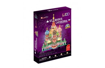 CubicFun 3D Puzzle ST.BASILS CATHEDRAL WITH LED LIGHT